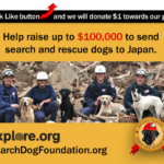 Click to help get search and rescue dogs to Japan!