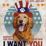 "Dog Bless You — your ""like"" can help get a veteran a service dog!"