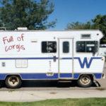Camper Full of Corgis. No foolin'!