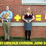 With Corgi, party of four! Best pregnancy announcement EVER.