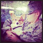 Military Monday: Zero the #Corgi and His Daddy!