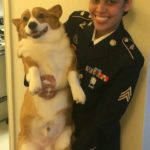 Military Monday: Krisia and Her Corgi Yoru!