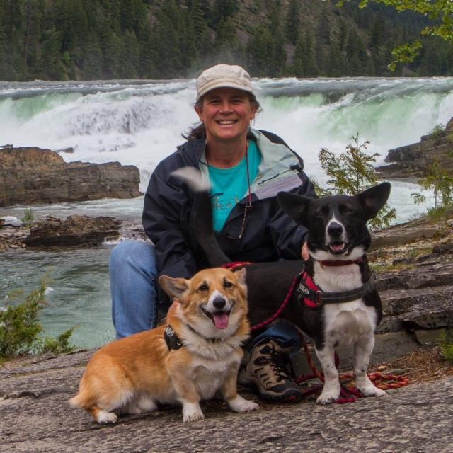 Rocky, Happy and Tammi at Kootenai Falls, Montana