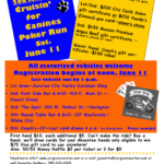 This Saturday, June 11th:  Cruisin' for Canines Poker Run!